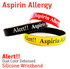 Aspirin Allergy MEDICAL ALERT SILICONE WRISTBAND / BRACELET HELP