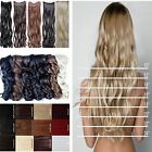 Half full head Long 18 24 28 Straight Wavy Curly clip in hair extensions party