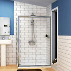Easy Walk in Glass Sliding Door Shower Enclosure Corner Cubicle Tray 1400x700mm