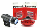 Power Beam Bike Bicycle Front Headlight and Rear Light Set Including Battery