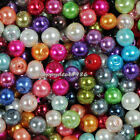 4mm,6mm,8mm Mixed Glass Pearl Round Loose Spacer Beads 100pcs (about 25 colors)