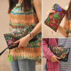 Retro Women's Embroider Tassel Ethnic Purse Wallet Card BOHO Holder Phone Bag TX