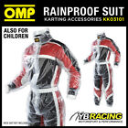 KK03101 OMP CLEAR PVC RAINPROOF WET WEATHER KART SUIT KARTING - ALL SIZES!