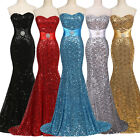 Strapless Sexy Long Formal Dress Bridesmaid Wedding Evening Party Grad Ball Gown