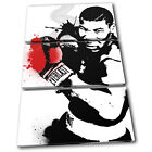 Mike Tyson Grunge Abstract Sports TREBLE CANVAS WALL ART Picture Print VA