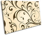 Floral Swirls Abstract SINGLE CANVAS WALL ART Picture Print VA
