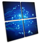 Cyber Technology Abstract MULTI CANVAS WALL ART Picture Print VA