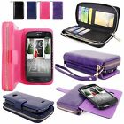 For LG Optimus L70 MS323 Exceed II PU Leather Wallet Purse Ladies Bag Pouch Case