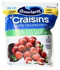 Ocean Spray Reduced Sugar Craisins Dried Cranberries Fruits Resealable 43 oz.