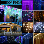 Icicle Hanging Snowfall Curtain Fairy Christmas Light Outdoor Indoor Party Decor