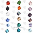 10 Pairs 5.5mm Diamond Glass Crystal Stud Earrings Simple Style Square MutiColor
