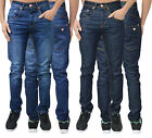 Mens Designer AD Jeans Skinny Slim Tapered Fit Stretch Denim Pants Trousers Size