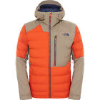 North Face Point It Down Hybrid Mens Jacket Coat - Zion Orange Brindle Brown