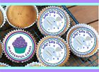 24 PERSONALISED BLUE BABY SHOWER DESIGN CUPCAKE TOPPER RICE, WAFER / ICING BS05
