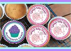 24 PERSONALISED PINK BABY SHOWER DESIGN CUPCAKE TOPPER RICE, WAFER / ICING BS06