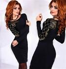 Sexy Femme Robe de Soirée Bodycon Parti Manche Longue Moulante Fashion dress