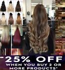 """Hair extensions 18-28"""" clip in one piece long curly wavy straight golden blonde"""