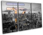 Tokyo Typography City TREBLE CANVAS WALL ART Picture Print