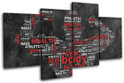 Fitness Body Building Typography Hobbies MULTI CANVAS WALL ART Picture Print