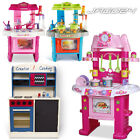 Child Kids Toddler Kitchen Role Pretend Play Cooking Toy Light & Sound Effect
