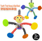 sassy cute frog monkey rattle teether that hang a bell bed infant baby gift 1pc