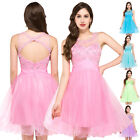 2016 Short Homecoming Beaded Evening Gown Prom Bridesmaids Cocktail Formal Dress