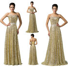 Long Mermaid Sequins Ball Gown Bridesmaids Formal Wedding Evening Party Dresses