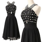 New Short Bridesmaid Dress Formal Evening Dresses Cocktail Party Prom Ball Gown