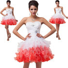 2016 Sweetheart Homecoming Dresses Short Beaded Organza Party Prom Evening Gown