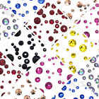 144 pcs Mixed Sizes Swarovski 2058/2088 Crystal Flatbacks (Pick your Colour)