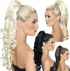 Smiffy's Quality Long Wavy Curly Clip in Pony Tail Hair Extension Piece Claw On