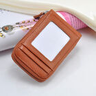 Mens Womens Leather Credit ID Business Card Holder Organizer Pocket Wallet