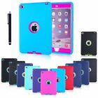 NEW SHOCKPROOF HEAVY DUTY RUBBER HARD CASE COVER FOR APPLE IPAD AIR MINI 1 2 3 4