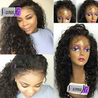 soft curly full/front lace wig 100% Brazilian Human Hair baby hair 5% discount
