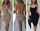 2016 Women Sleeveless Backless Bandage Bodycon Cocktail Club Party Sexy Dress