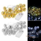 20 LED 2.8M Rattan Ball String Lamp Fairy Lights Xmas Wedding Party Tree Decor