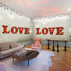 "Metal Battery Operated LED 12"" Marquee Wall Light Fairground Alphabet Letters UK"
