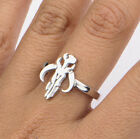 NEW in Box Woman's Star Wars Mandalorian Cut Out Stainless Steel Ring - Licensed $17.95 USD on eBay