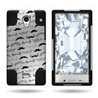 For Sharp AQUOS Crystal Hybrid Design Plastic Skin w/ Stand Cover Phone Case