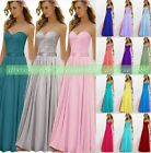 New Gorgeous Bridesmaid Dress Formal Evening Long Gown Party Prom Ball Size 6-18