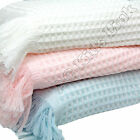 New BeeBo Large Beautiful Baby Shawl with Fringe Baby Boys Girls Pink Blue White