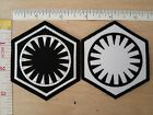 Star Wars First Order Logo The Force Awakens EMBROIDERY IRON ON PATCH EMBLEM $6.21 CAD