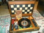 Vintage 1944 LOWE CHESS CHECKERS ROULETTE DOMINOES + Game Set W. Locking Case