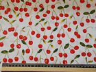 Red cherry fabric 100% cotton  material 146cm wide  RETRO vintage look