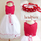 Gorgeous Red wedding pageant tulle flower girl party dresseaster dresses