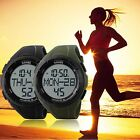 SKMEI New 2 Alarms 3D Pedometer Countdown Timer Sports Women Men's Digital Watch