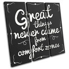 Motivation Quote Office Vintage TREBLE CANVAS WALL ART Picture Print
