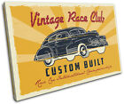 Race Garage Retro Car Vintage SINGLE CANVAS WALL ART Picture Print