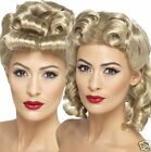 Ladies Smiffy's 40s WW2 Vintage Retro War Time Pin-Up Girl Costume Blond Wig