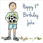 Quality Personalised Football BIRTHDAY CARD ~ AGE & NAME OR RELATION, Boys Mens